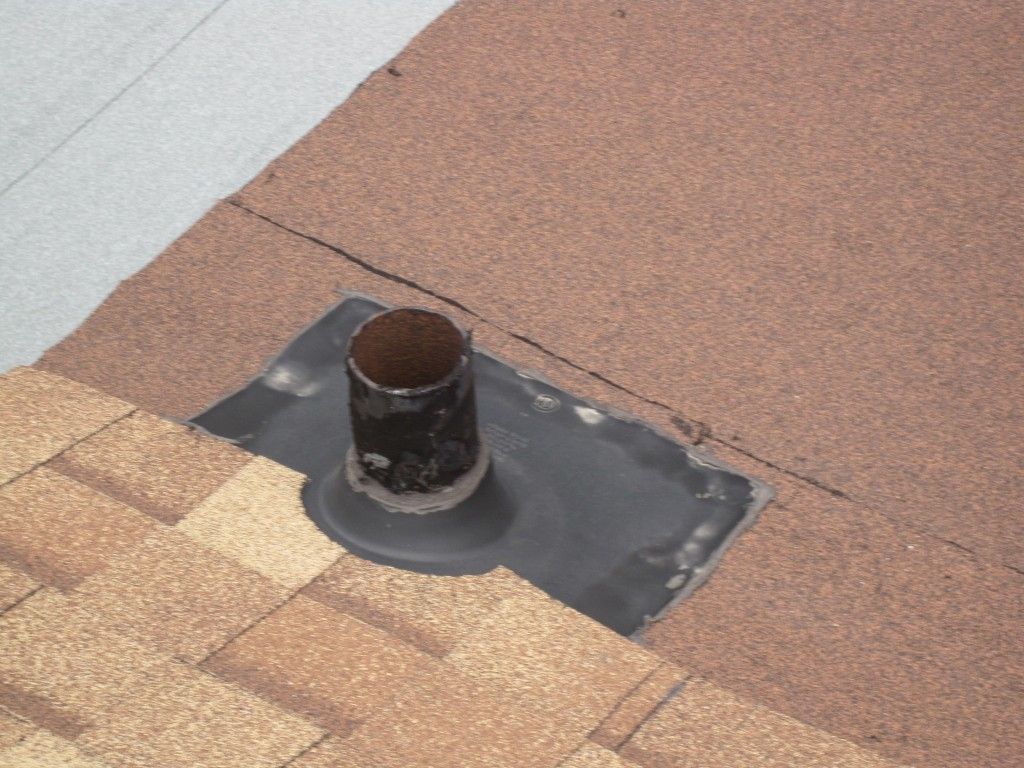Toronto-Roofing-Flat-Roof-Incorrect-flashing