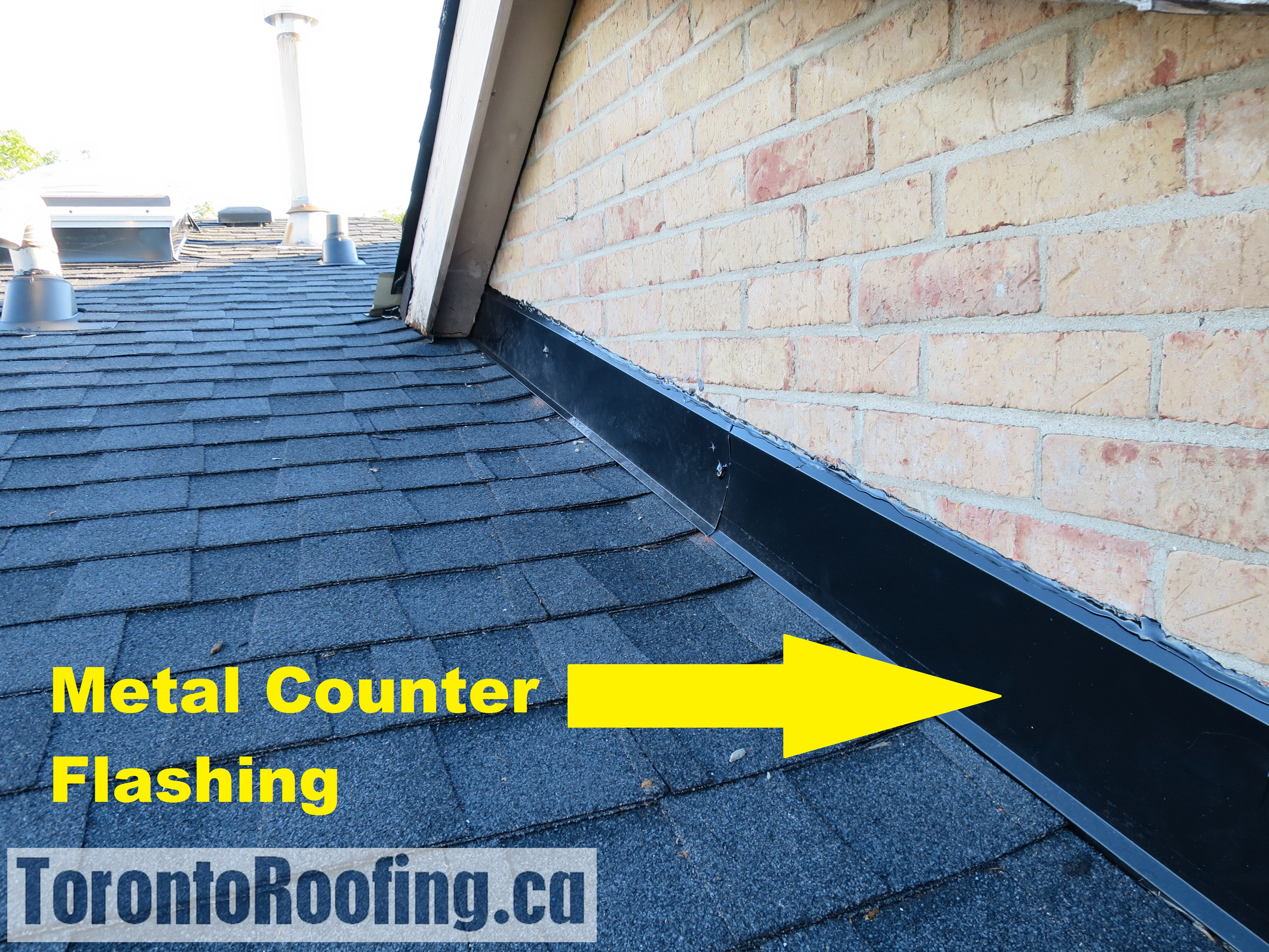 Nice Toronto, Roofing, Metal, Flashing, Chimney, Flat, Roof, Sloped, ...
