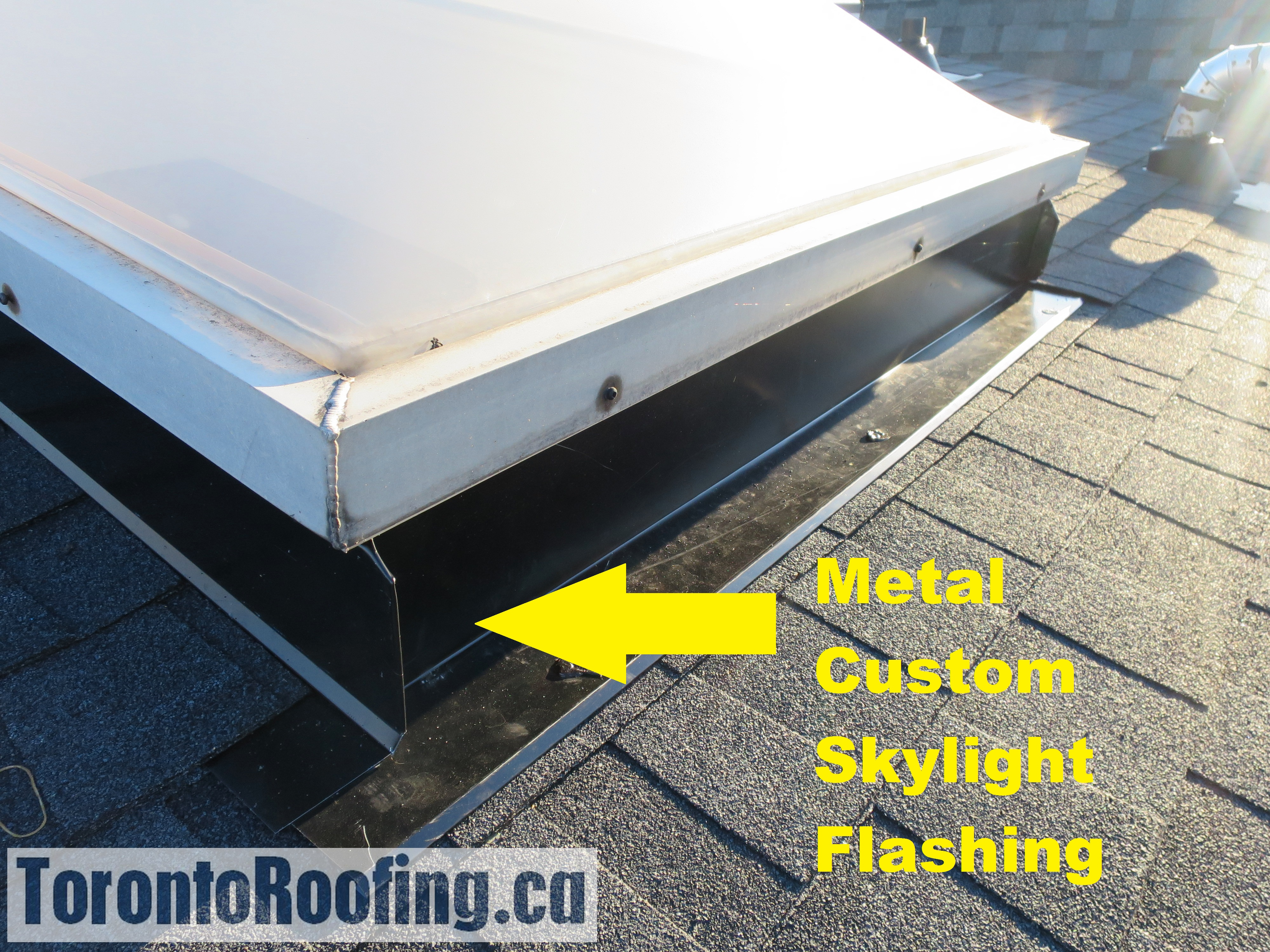 Toronto roofing flat roof modified bitumen skylight flashing gutters eavestrough shingles ice water shield grace flashing new diagram roofing custom metal flashing torontoroofing ca